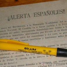 Militaria: ALERTA ESPAÑOLES, MONARQUIA TRADICIONAL LEGITIMISTA. CARLISMO.. Lote 36625836