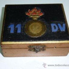 Militaria: CAJA ORIGINAL DE SOLDADO DE LA 11 DIVISION, GUERRA CIVIL.. Lote 37889593