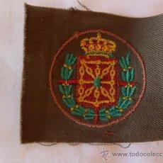 Militaria: ESCUDO EN TELA DEL CUERPO DE EJERCITO DE NAVARRA. Lote 39195108