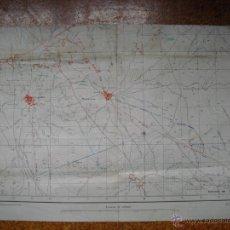 Militaria: FEBRERO 1939 GUERRA CIVIL MAPA SONSECA 1 1:25000 DE LA AVIACIÓN NACIONAL TRINCHERAS Y DEFENSAS. Lote 39957928
