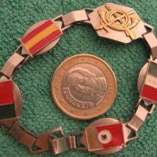 Militaria: PULSERA GUERRA CIVIL INFANTERIA BANDERA , ITALIANA, PORTUGUESA Y ESPAÑOLA. Lote 40661419