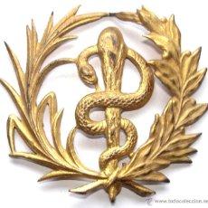 Militaria: INSIGNIA MEDICO REPUBLICANA EN METAL NO CHAPA . ORIGINAL DE EXCAVACION GRANDE 4 CM. Lote 41075031