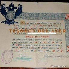 Militaria: CONCESION TERCIO DE ABARZUZA, MANDO MILICIA DE F.E.T. Y DE LAS JONS, PRIMERA COMPAÑIA DE MEDALLA DE. Lote 42191051