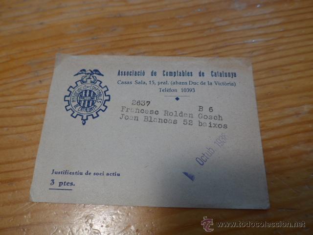 Militaria: Antiguo carnet de UGT de comptables de catalunya, 1937, guerra civil - Foto 5 - 42882278