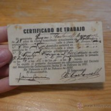 Militaria: ANTIGUO CARNET REPUBLICANO DE ALERTA, VALENCIA, 1937, GUERRA CIVIL . Lote 42882760