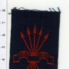 Militaria: PARCHE DE TELA BORDADA MILITAR DE FALANGE, YUGO Y FLECHAS, . ORIGINAL. Lote 89059839
