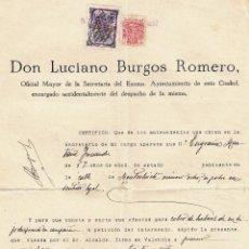 Militaria: VALENCIA 1937 CONSEJO MUNICIPAL - GUERRA CIVIL - DOCUMENTO INTERESANTE. Lote 43577959