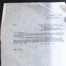 Militaria: SEPTIEMBRE 1938. CABO RGMTO INFANTERIA CADIZ 33. 4º COMPAÑIA 7º BON. ESTAFETA 93. GUERRA CIVIL. LEER. Lote 44037984