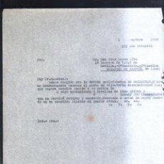 Militaria: 1938. 1º BANDERA DE T.E.T SEVILLA. 2ª CENTURIA 2ª SECCION. ESTAFETA 89. GUERRA CIVIL. LEER. Lote 44038083