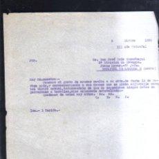 Militaria: DICIEMBRE 1938. 3º DIVISION DE NAVARRA. PLANA MAYOR. 2º JEFE. ESTAFETA 3. GUERRA CIVIL. LEER. Lote 44038167