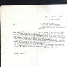 Militaria: 1937. GRUPO DE AMETRALLADORES CAPITAN KIKPATRICK. ESPINOSA DE HENARES,GUADALAJARA. GUERRA CIVIL.LEER. Lote 44038217