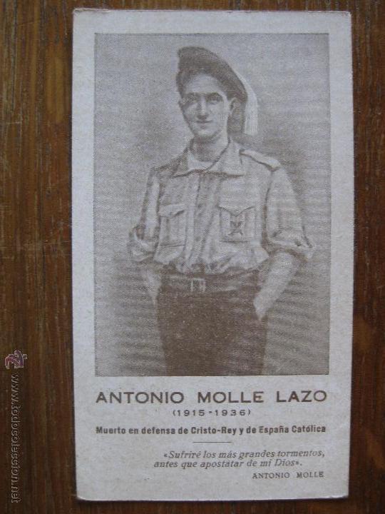 ESQUELA FUNERARIA - ANTONIO MOLLE LAZO 1915-1936 (Militar - Guerra Civil Española)