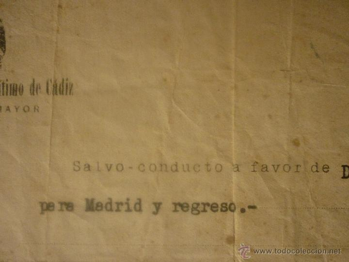 Militaria: SALVO CONDUCTO FECHA 10 JULIO 1939 DE MADRID A CÁDIZ Y REGRESO. EL DE LA FOTO - Foto 3 - 44429227