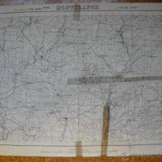 Militaria: MAPA DE MONTBLANCH DEL EJERCITO NACIONAL. Lote 44497578