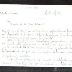 Militaria: GUERRA CIVIL. 1938. COMPAÑIA TRANSMISIONES. ESTAFETA 33. CARTA OSBORNE. LEER. Lote 44766689