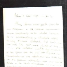 Militaria: GUERRA CIVIL. C.CABALLERIA Nº 24. MALLORCA, BALEARES. 1939. CARTA A OSBORNE. LEER. Lote 44766887