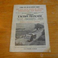 Militaria: RARISIMO LIBRITO FRANCES DE 1938 SOBRE GUERRA CIVIL, BANDO NACIONAL. FRENTE NORTE VASCO Y SANTANDER.. Lote 45136169