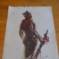 Militaria: CARTEL ORIGINAL DE CNT DE LA GUERRA CIVIL. SIM 1936.. Lote 45136491