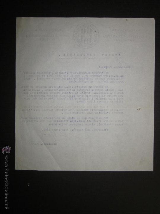 Militaria: DOCUMENTO CATALANISTA-ACCIO CULTURAL- PANCATALANISME -BLOC CATALANISTA VILAFRANCA DEL PENEDES-1923 - Foto 2 - 45147057