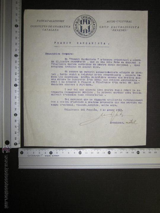 Militaria: DOCUMENTO CATALANISTA-ACCIO CULTURAL- PANCATALANISME -BLOC CATALANISTA VILAFRANCA DEL PENEDES-1923 - Foto 3 - 45147057