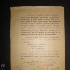 Militaria: DOCUMENTO GENERALITAT DE CATALUNYA COMISSARIAT DE TARRAGONA - COMITE ANTIFEIXISTA 11 SEPTEMBRE 1936. Lote 45147106