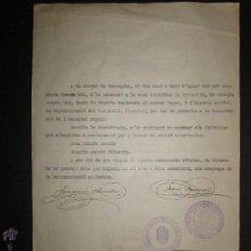 Militaria: DOCUMENTO -FRONT ANTIFEIXISTA TARRAGONA - CASA DEL PUEBLO - COMISSARIAT- 1936. Lote 45147281