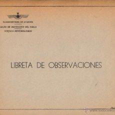 Militaria: CONJUNTO DE MAPAS (3), TABLAS Y DOCUMENTOS DE LA SUBSECRETARIA DE AVIACION. PROTECCION DE VUELO. Lote 45166750