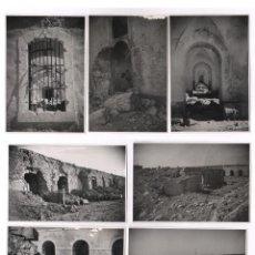 Militaria: GUERRA CIVIL. EL CASTILLO DE FIGUERAS DESTRUIDO, 1939. 9 FOTOGRAFÍAS 12X17,5CM.. Lote 133090581