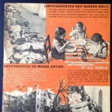 Militaria: PEQUEÑO CARTEL DE MANO EDITADO POR BRIGADAS INTERNACIONALES, 1937. BARCELONA. INFANCIA. GUERRA CIVIL. Lote 45333899