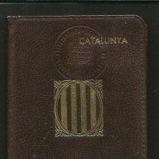 Militaria: CARNET D´IDENTITAT GENERALITAT DE CATALUNYA-DEPARTAMENT DE PRESIDENCIA-ANY 1937-GUERRA CIVIL-(V-447 . Lote 45726640