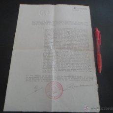 Militaria: AUDITORIA DE GUERRA DEL EJERCITO DE OCUPACION DE LA PLAZA DE VALENCIA SOBRE UN COMANDANTE - 1939. Lote 46060945