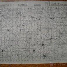 Militaria: MAPA DE SONSECA EJERCITO DEL CENTRO ( NACIONAL) GUERRA CIVIL. Lote 46705112