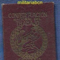 Militaria: CARNET DE LA CNT CONFEDERACIÓN NACIONAL DEL TRABAJO. 1936. GUERRA CIVIL ESPAÑOLA.. Lote 46886892