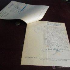 Militaria: 1937 DOS DOCUMENTOS JUZGADO SOBRE APREMIO DE COCHE REQUISADO. Lote 47029752