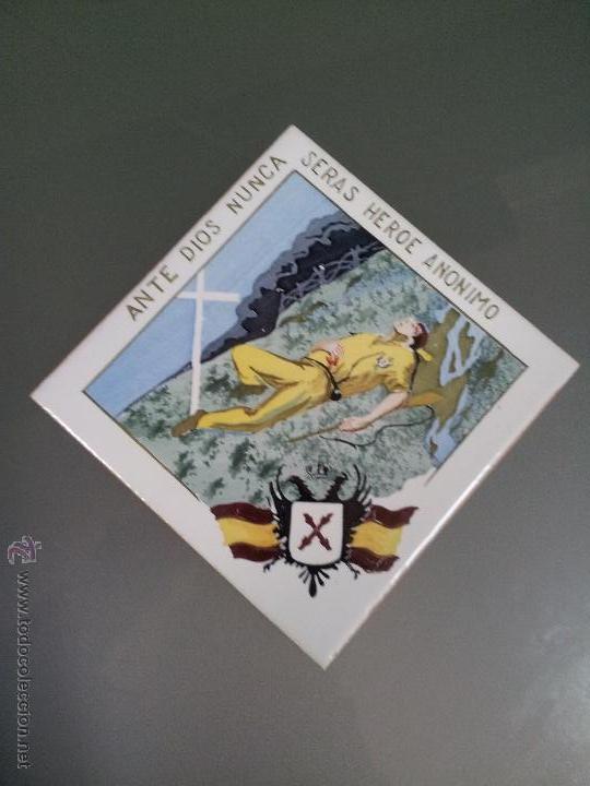 AZULEJO DE ENCARGO REQUETES- CARLISTAS ..EL VENDRELL-TARRAGONA 1940 POSTGUERRA (Militar - Guerra Civil Española)