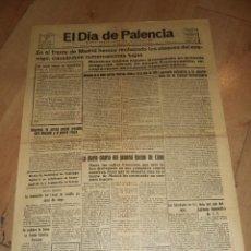 Militaria: DIARIO EL DIA DE PALENCIA. 22 JULIO 1937. AÑO 47, 2ª EPOCA. Nº 14633. LEER. Lote 47337909