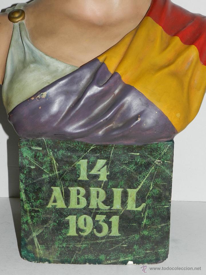 Militaria: FIGURA ALEGORIA DE LA SEGUNDA REPUBLICA 14 DE ABRIL 1931 ( ORIGINAL DE EPOCA ) 86 x 52 x 28 CM - Foto 10 - 47346519