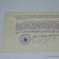Militaria: DOCUMENTO COMANDANTE DE INFANTERIA Y JEFE DE LA COMPAÑIA DE ESCOLTA, PRISIONERO DE GUERRA, 1939. Lote 47432689
