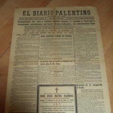 Militaria: EL DIARIO PALENTINO. AÑO LVI. Nº 16128. 26 JULIO 1937.COMBATE BRUNETE. LEER. Lote 47443815