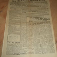 Militaria: EL DIARIO PALENTINO. AÑO LVI. Nº 16153. 24 AGOSTO 1937. LOS CORRALES Y CASTRO-URDIALES. LEER. Lote 47444087