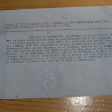 Militaria: CONCESION DE MEDALLA DE LA CAMPAÑA Y CRUZ ROJA MERITO MILITAR, GUERRA CIVIL, VILAFRANCA DEL PENEDES. Lote 47555234