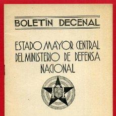 Militaria: FOLLETO , BOLETIN DECENAL ESTADO MAYOR, EJERCITO TIERRA , GUERRA CIVIL , REPUBLICA, 31-7-1937 , R11. Lote 47739810