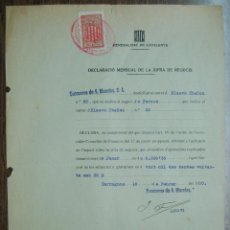 Militaria: TARRAGONA. GENERALITAT DE CATALUNYA 1938. Lote 49027570