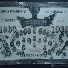 Militaria: GALICIA.CORUÑA.CAMBRE.1936-1939.'CAIDOS POR DIOS Y POR ESPAÑA' 29 FOTOGRAFIAS EN ORLA DE HONOR . Lote 49603219