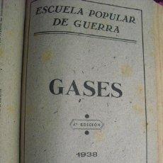 Militaria: 1938 GUERRA CIVIL GASES ESCUELA POPULAR DE GUERRA. Lote 49647445