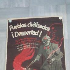 Militaria: CARTEL. PUEBLOS CIVILIZADOS ¡DESPERTAD! 20 AÑOS DE KOMINTERN (1939). RARO. Lote 49912870