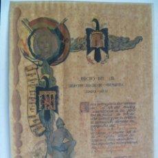 Militaria: GCE : EJERCITO DE EXTREMADURA : DIPLOMA MEDALLA CAMPAÑA Y CRUZ DE GUERRA A TENIENTE CORONEL, 1939. Lote 50309400