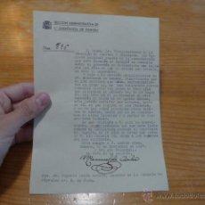 Militaria: ANTIGUO DOCUMENTO ENSEÑANZA DE ZAMORA, 1937, GUERRA CIVIL. Lote 50599867