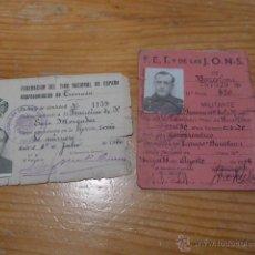 Militaria: LOTE FALANGISTA DE GUERRA CIVIL. CARNET FALANGE Y CARNET DE TIRO NACIONAL. Lote 50599986