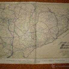 Militaria: GUERRA CIVIL MAPA DEL FRENTE DE ARAGON Y CATALUÑA 63X46 CMS. Lote 50762975